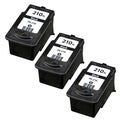 Canon PG-210 Black Remanufactured Inkjet Cartridge (Pack of 3)