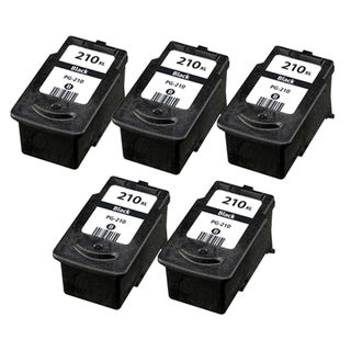 Canon PG-210 Black Remanufactured Inkjet Cartridge (Pack of 5)