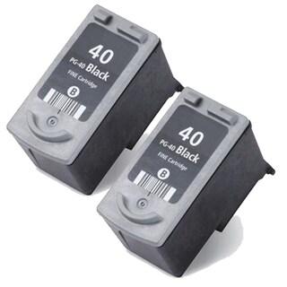 Canon PG40 Black Remanufactured Inkjet Cartridge (Pack of 2)