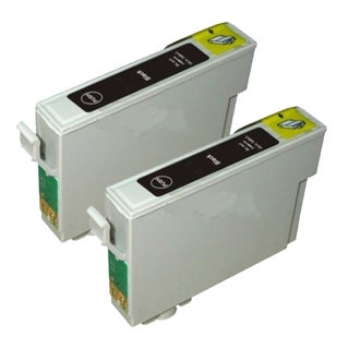 Epson T069120 (T0691) Black Remanufactured Ink Cartridge (Pack of 2)