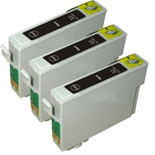 Epson T069120 (T0691) Black Remanufactured Ink Cartridge (Pack of 3)