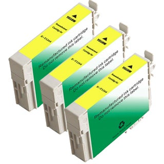 Epson T126420 (T1264) Yellow Remanufactured Ink Cartridge (Pack of 3)