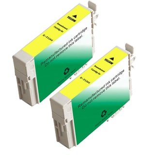 Epson T126420 (T1264) Yellow Remanufactured Ink Cartridge (Pack of 2)