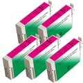 Epson T126320 (T1263) Magenta Remanufactured Ink Cartridge (Pack of 5)
