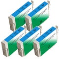 Epson T126220 (T1262) Cyan Remanufactured Ink Cartridge (Pack of 5)
