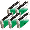 Epson T126120 (T1261) Black Remanufactured Ink Cartridge (Pack of 5)