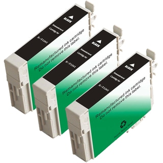 Epson T126120 (T1261) Black Remanufactured Ink Cartridge (Pack of 3)