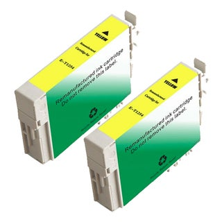 Epson T125420 (T1254) Standard Yield Yellow Remanufactured Ink Cartridge (Pack of 2)