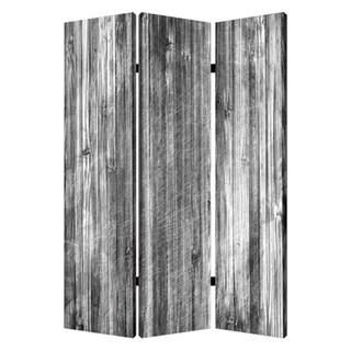 Distressed 3-Panel Wood Screen
