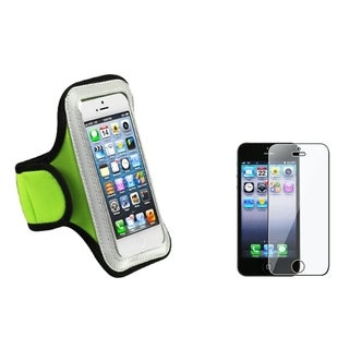 BasAcc Green Armband Case/ Screen Protector for Apple iPhone 5