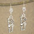 Jewelry by Dawn Antique Silver Pewter Love Ballerina Dance Earrings