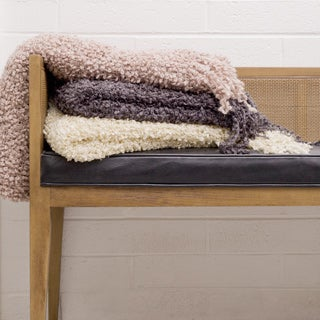 Cashmere Showroom Fancy Yarn Throw