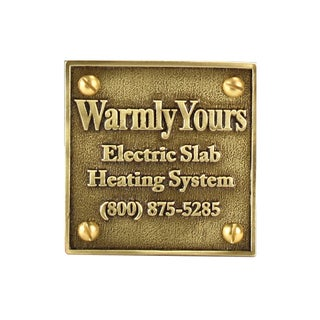 Warmly Yours Snow Melt Brass Plaque