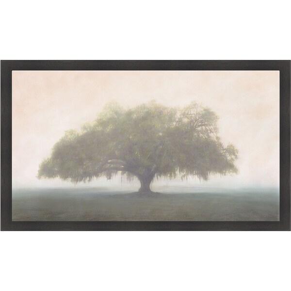 William Guion 'Oak in the Fog' Framed Print