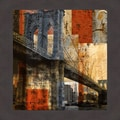 Katrina Craven 'Brooklyn Bridge' Framed Artwork