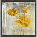Carol Black 'Yellow Flowers II' Framed Artwork