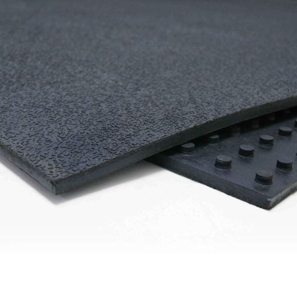 Rubber-Cal 'Tuff-Flex' Heavy-Duty 4-foot x 6-foot Black Floor Protection Mat