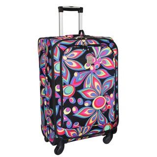 Jenni Chan Wild Flower 25-inch Medium 360 Quattro Spinner Upright Suitcase