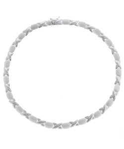 Mondevio Sterling Silver Hugs and Kisses Necklace