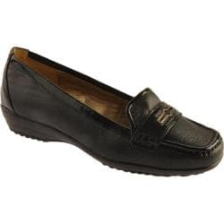 Women's Circa Joan & David Finton Black Leather/Black Patent Trim