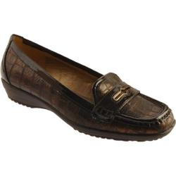 Women's Circa Joan & David Finton Bronze Croc/Dark Brown Patent Trim