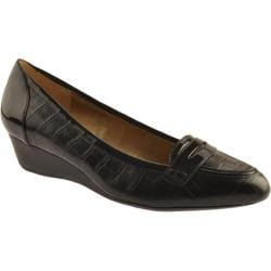 Women's Circa Joan & David Yoelle Black Croco/Black Patent Trim