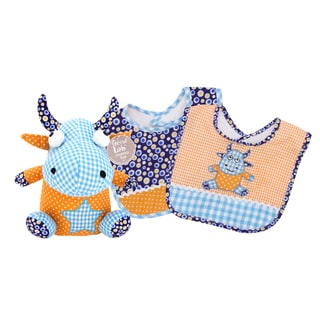 Trend Lab Dreamsicle Monster 3-piece Bib and Buddy Set