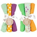 Trend Lab Jelly Bean 6-piece Burp Cloth Set