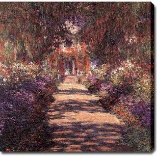 Claude Monet 'Garden' Giclee Canvas Art
