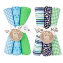 Trend Lab Apple Berry 6-piece Burp Cloth Set