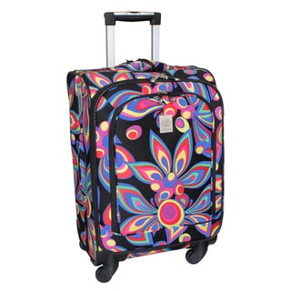 Jenni Chan Wild Flower 21-inch 360 Quattro Carry-on Spinner Upright