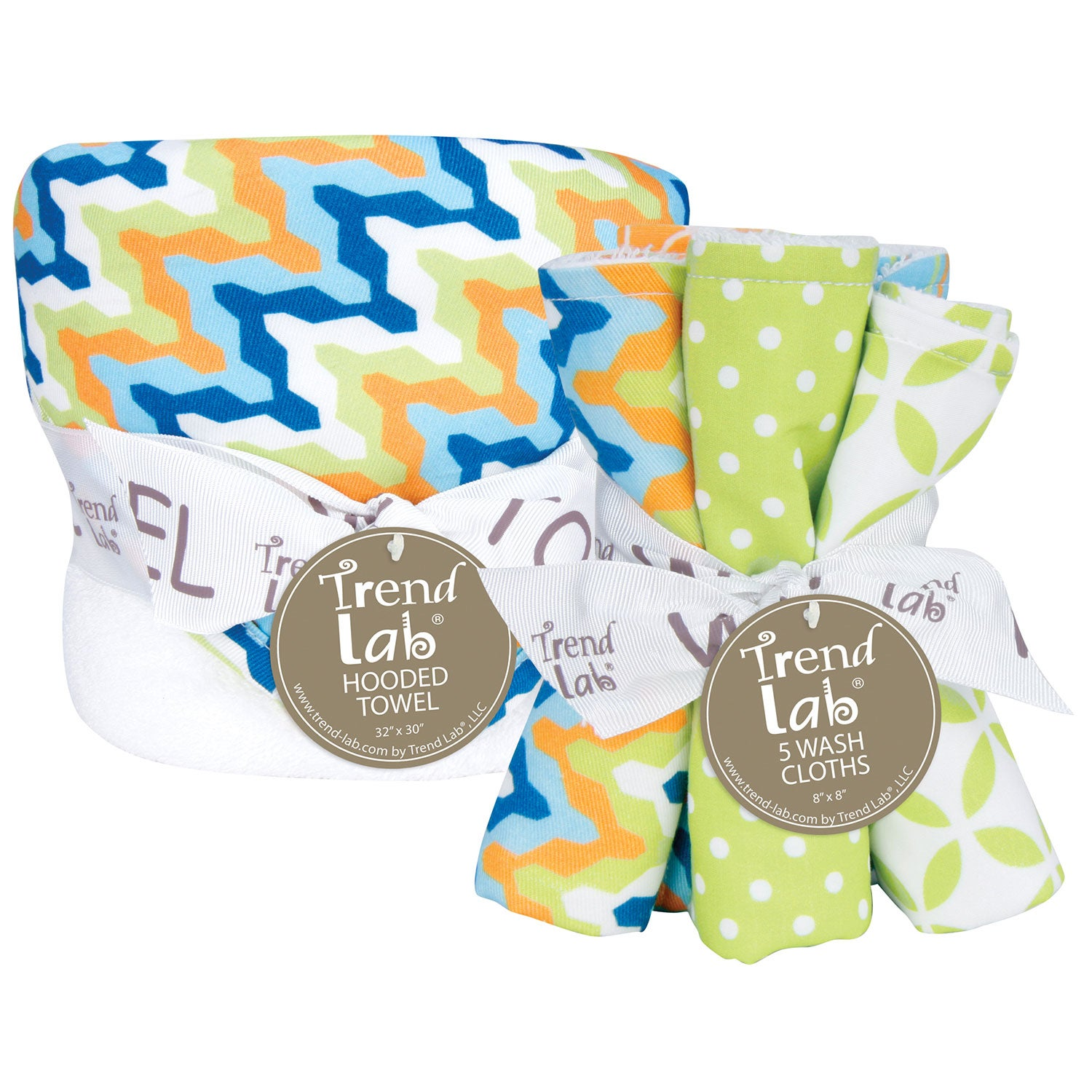 Trend Lab Levi 6-piece Hooded Towel and Wash Cloth Set at Sears.com