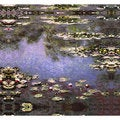 Claude Monet 'Purple Pond' Canvas Print Art