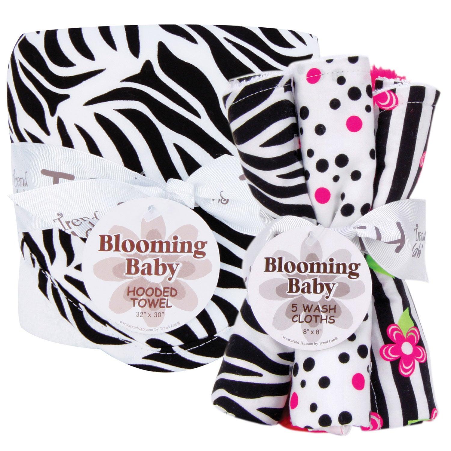 Trend Lab Zebra 6-piece Hooded Towel and Wash Cloth Set at Sears.com