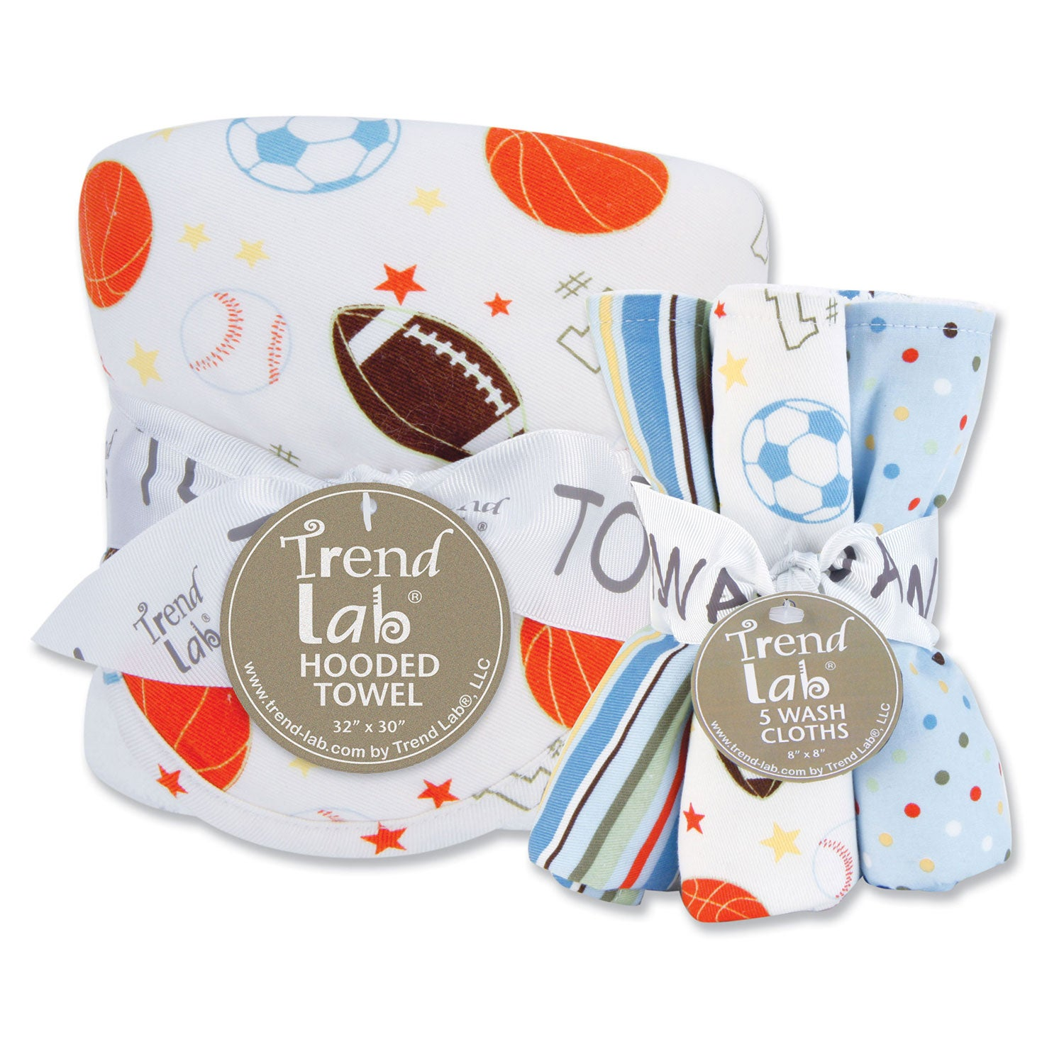 Trend Lab Little MVP 6-piece Hooded Towel and Wash Cloth Set at Sears.com