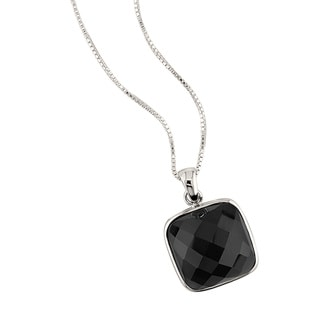 Sterling Silver Black Onyx 18-inch Necklace