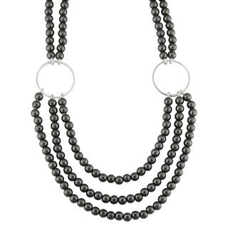 Silver Hermatite Bead Necklace