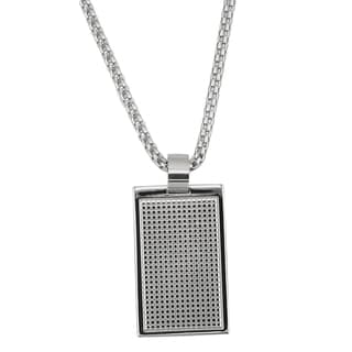 Stainless Steel Gents Dog Tag Pendant Necklace