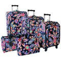 Jenni Chan Wild Flower 5-piece 360 Quattro Spinner Luggage Set