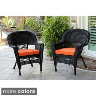 3-piece Black Wicker Bistro Set