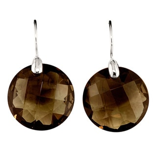 Sterling Silver Smokey Obsidian Earrings