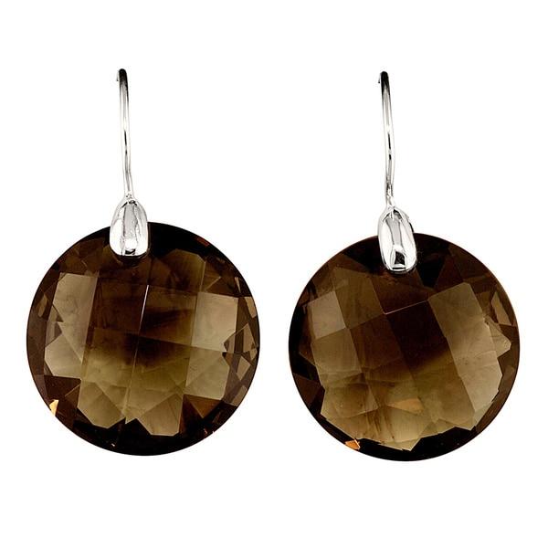 Sterling Silver Smokey Obsidian Earrings