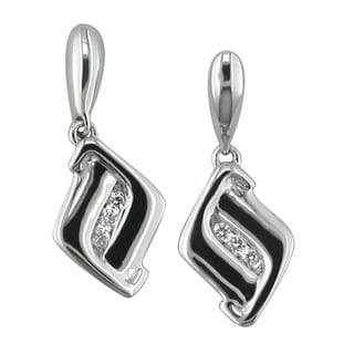 Sterling Silver Diamond Accented Earrings