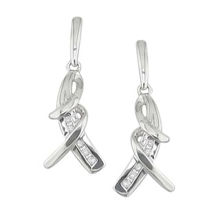Sterling Silver 1/10ct TDW Diamond Earrings (H, I1)