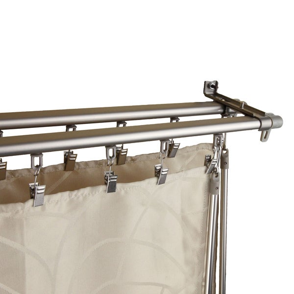 Regal Silver Adjustable Double Curtain Track Set
