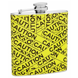 6-Ounce Caution Tape Hip Flask