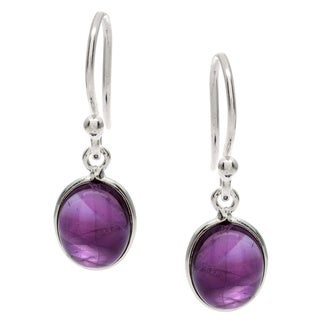 Silverplated Amethyst Handmade Earrings (India)