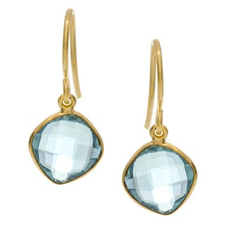 Goldplated Blue Quartz Earrings (India)