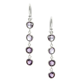 Silverplated Amethyst Earrings (India)