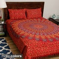 Bedspread from Pilkhuwa with Printed Giant Mandala (India)